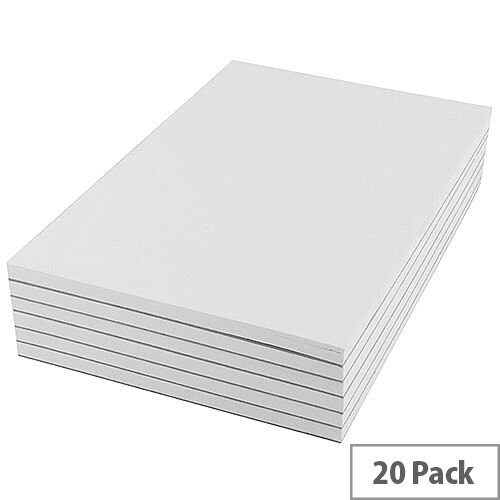 Q-Connect Plain Scribble Pad 203x127mm (Pack of 20) KF27019