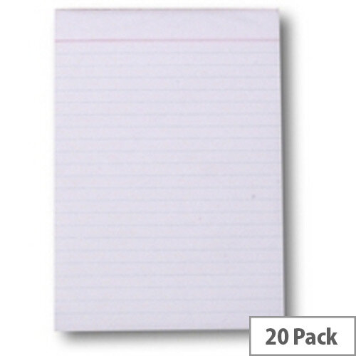 Q-Connect Scribble Pad 203x127mm 80 Leaf Ruled Feint Pack of 20
