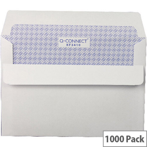 Q-Connect Envelope White C6 Window (Pack of 1000)
