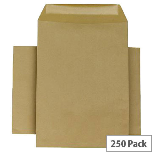 Q-Connect Gummed Manilla Pocket Envelopes 254x178mm 90gsm Pack of 250