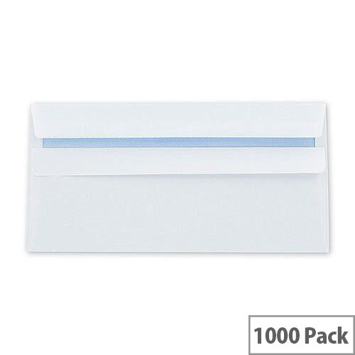 Q-Connect Envelope DL 100gsm White Self-Seal Pack of 1000 KF3514