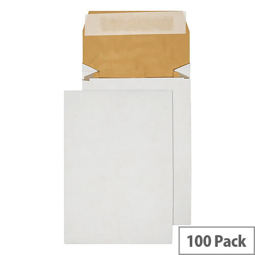 Q-Connect C5 Padded Gusset Envelopes 229x162mm White Pack of 100