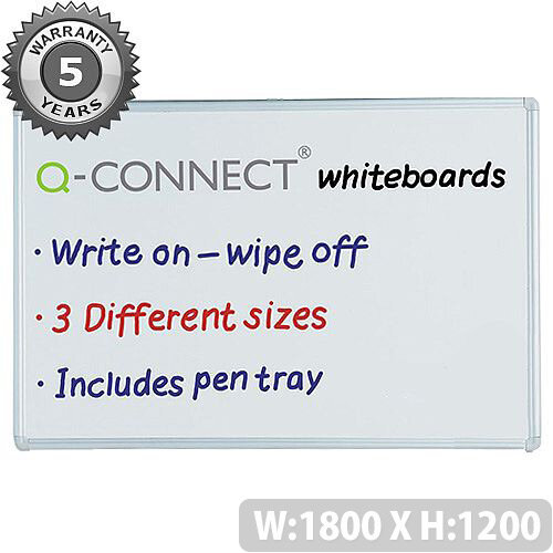 Non-Magnetic Drywipe Board 1800x1200mm Q-Connect