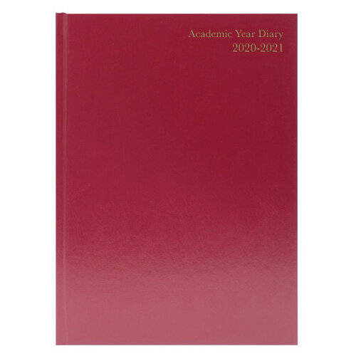 Academic Diary Week to View A4 Burgundy 2020-21 KF3A4ABG21