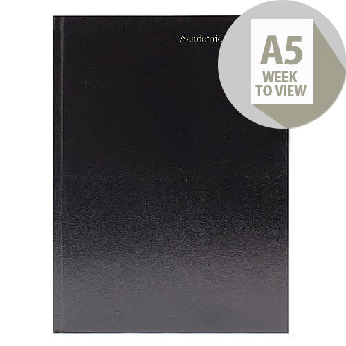 Week to View 2018/19 A5 Black Academic Diary KF3A5ABK18
