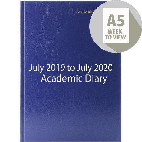 Academic Diary Week to View 2019-20 A5 Blue KF3A5ABU19