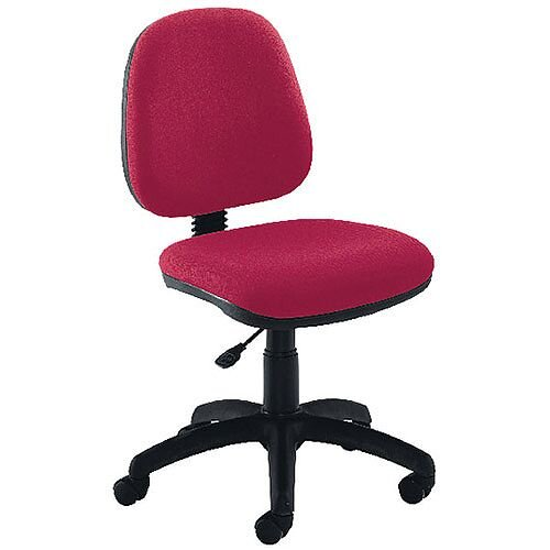 Jemini Medium Back Task Operators Office Chair Claret