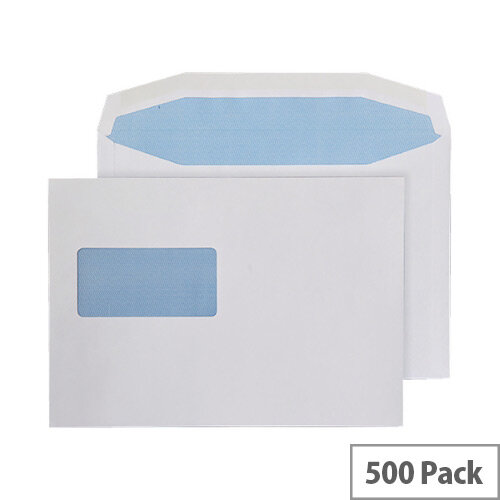 Q-Connect Machine Wallet Gummed Envelopes 162x238mm High Window 80gsm White Pack of 500