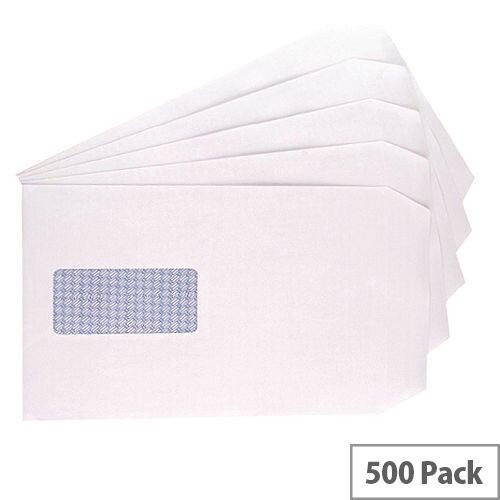 Q-Connect Envelope C5 Window 90gsm Self Seal White (Pack of 500) 9000020