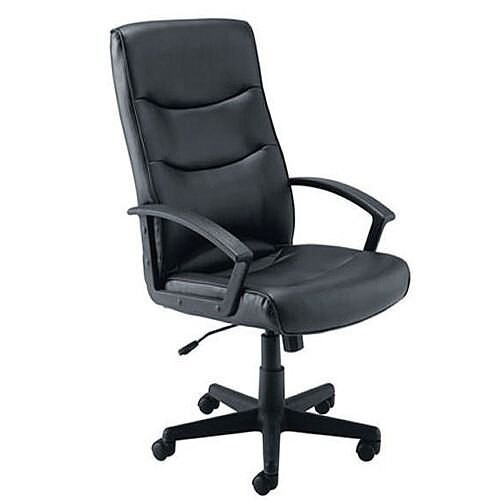 Jemini Leather Look Executive Office Armchair Black