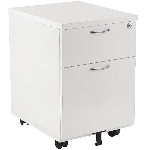 Jemini 2-Drawer Mobile Pedestal White KF74147