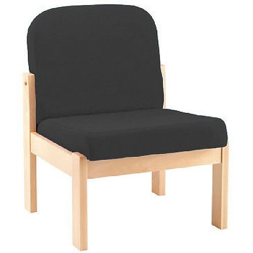 Arista Reception Wooden Frame Chair Charcoal KF74201