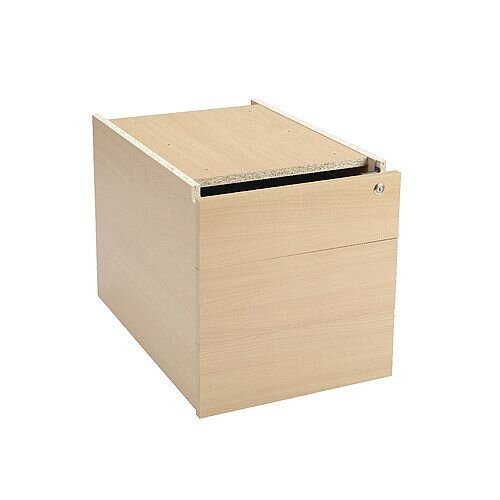 Jemini Intro Fixed Pedestal 3 Drawer Warm Maple