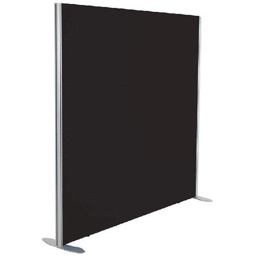Jemini Floor Standing Screen Including Feet 1200 x 800 Black KF74323