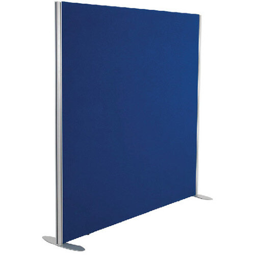 Jemini Floor Standing Screen Including Feet 1200 x 1200 Blue KF74326