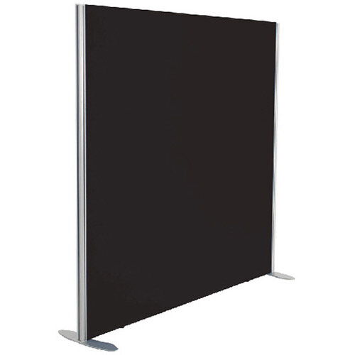 Jemini Floor Standing Screen Including Feet 1600 x 1600 Black KF74333