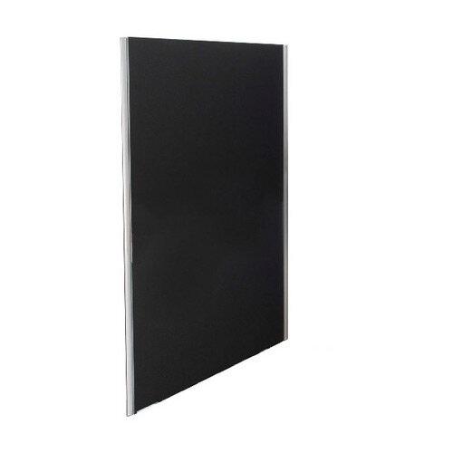 Jemini Floor Standing Screen Including Feet 1800 x 800 Black KF74335