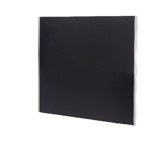 Jemini Floor Standing Screen Including Feet 1800 x 1600 Black KF74339