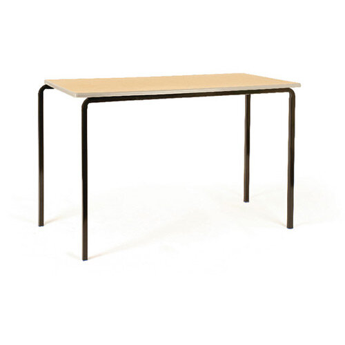Jemini MDF Edge Beech Top Class Table With Silver Frame 1100 x 550 x 760mm Pk4 KF74560
