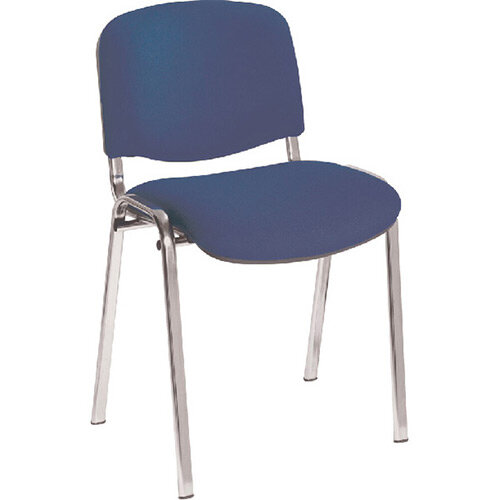 First Ultra Multi Purpose Stacking Chair Blue Chrome Frame KF74893