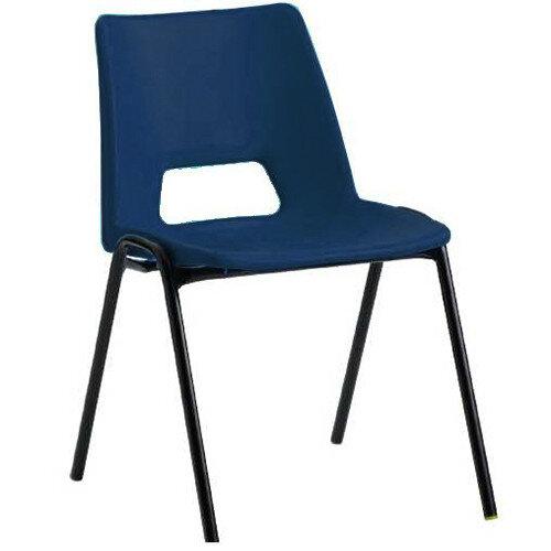 jemini polypropylene stacking chair blue kf74958 huntoffice co uk