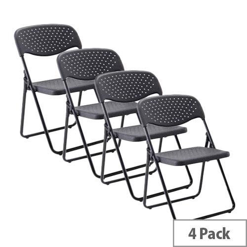 Jemini Folding Chair Black  Pack of 4 KF7493