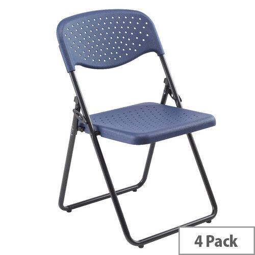 Jemini Folding Chair Dark Blue Pack of 4 KF74964
