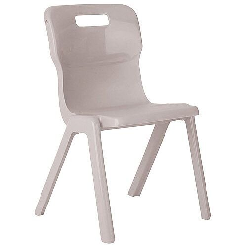 Titan One Piece Classroom Chair Size 5 430mm Seat Height (Ages: 11-14 Years) Grey T5-GR - 20 Year Guarantee