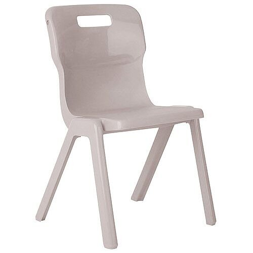Titan One Piece Classroom Chair Size 6 460mm Seat Height (Ages: 14+ Years) Grey T6-GR - 20 Year Guarantee