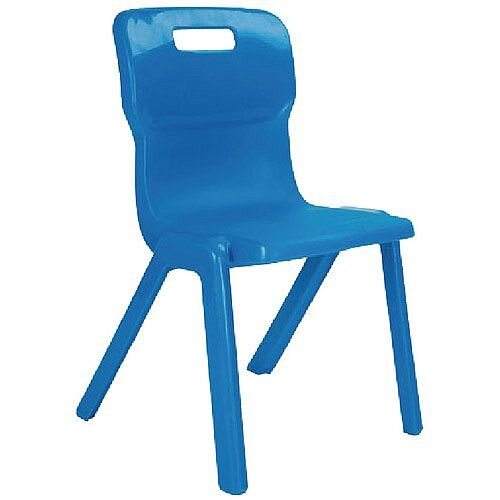 Titan One Piece School Chair Size 1 260mm Blue Pack of 10