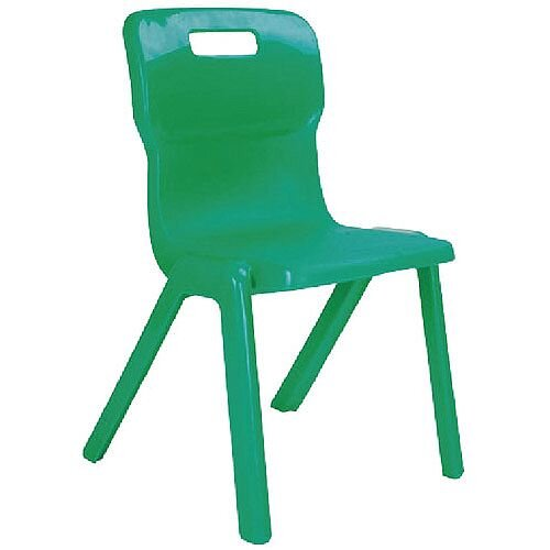 Titan One Piece School Chair Size 1 260mm Green Pack of 10