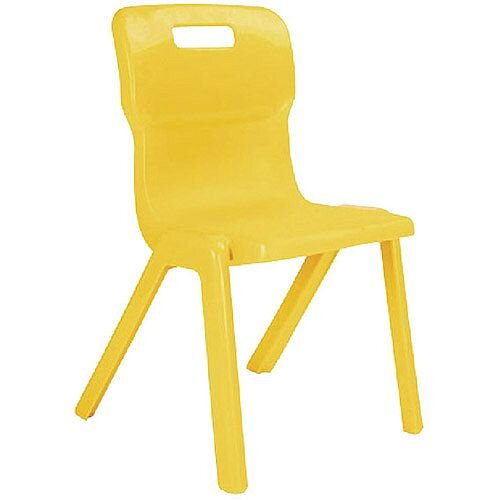 Titan One Piece School Chair Size 1 260mm Yellow Pack of 10
