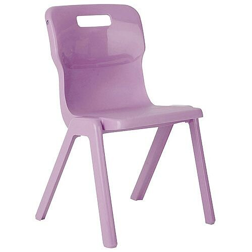 Titan One Piece School Chair Size 3 350mm Purple Pack of 10