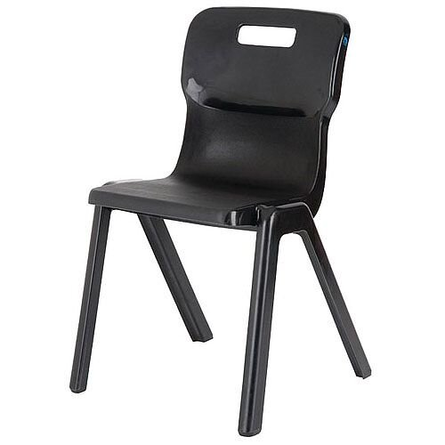 Titan One Piece School Chair Size 5 430mm Black Pack of 10