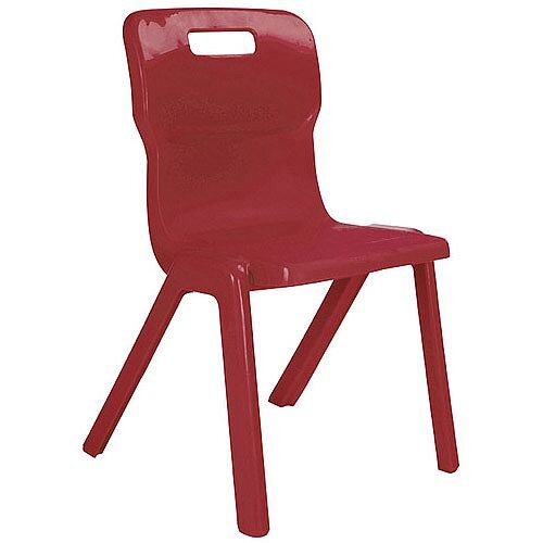 Titan One Piece School Chair Size 6 460mm Burgundy Pack of 10