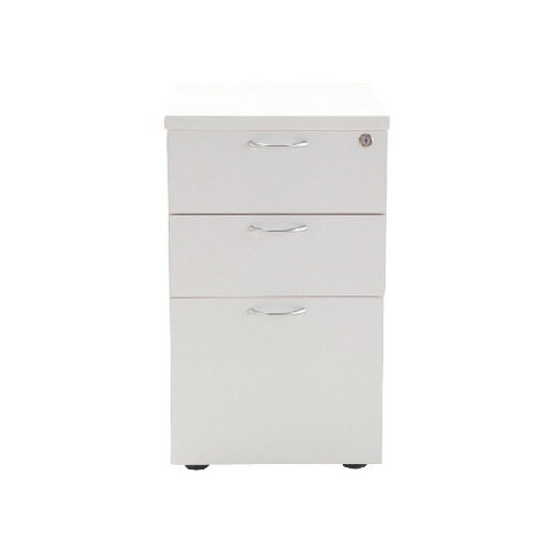 Jemini 3 Drawer Under-Desk Pedestal White KF78664