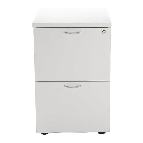 Jemini 2 Drawer Filing Cabinet White KF78666