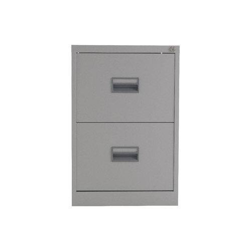 Talos 2 Drawer Steel Filing Cabinet Grey KF78764