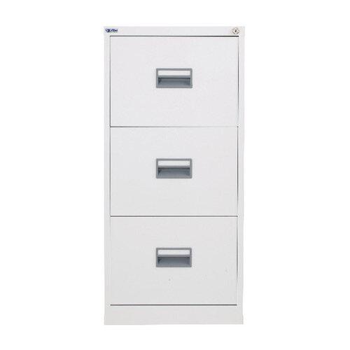 Talos 3 Drawer Steel Filing Cabinet White KF78769