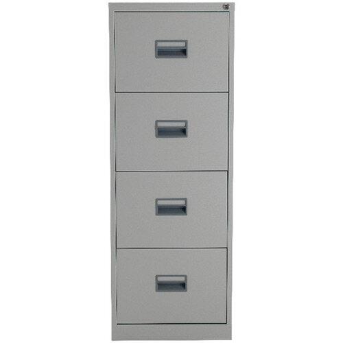 Talos 4 Drawer Steel Filing Cabinet Grey KF78772