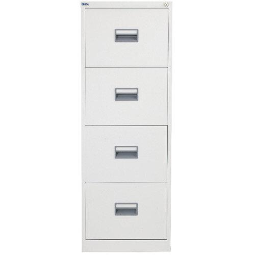 Talos 4 Drawer Steel Filing Cabinet White KF78773
