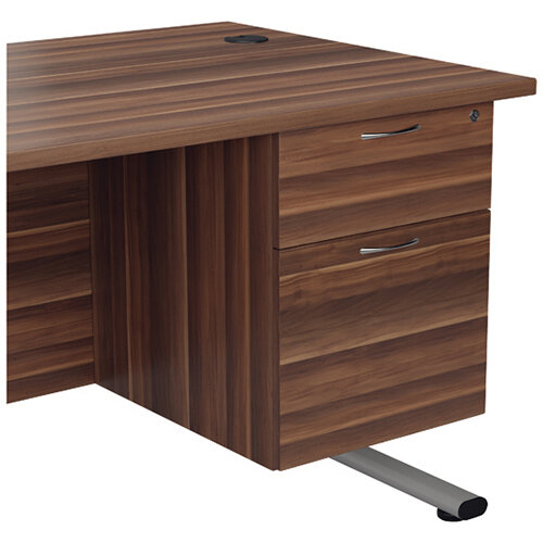 Jemini Walnut 2 Drawer Fixed Pedestal KF78938
