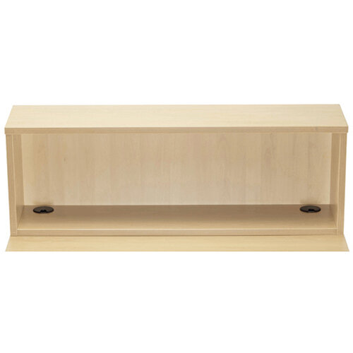 Jemini Modular Reception Straight Hutch Unit Maple W1200xD300xH405mm - Reception Desk Riser For 1200mm Base Unit Maple