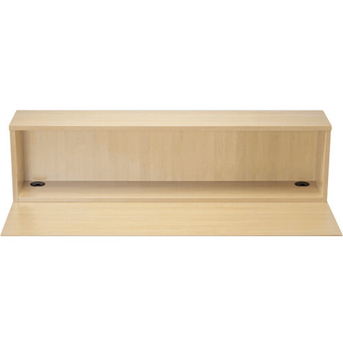 Jemini Modular Reception Straight Hutch Unit Maple W1600xD300xH405mm - Reception Desk Riser For 1600mm Base Unit Maple
