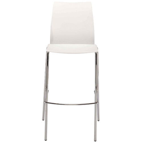 Jemini White Tall Bistro Chair KF79032