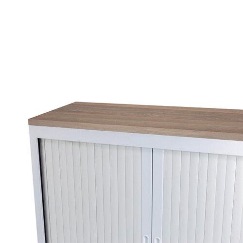 Talos Tambour Wooden Top Dark Walnut W1000 x D450 x H25mm TCS-TAM-TOPDW