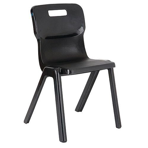 Titan One Piece School Chair Size 2 310mm Charcoal Pack of 10