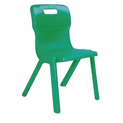 Titan One Piece School Chair Size 3 350mm Green Pack of 10