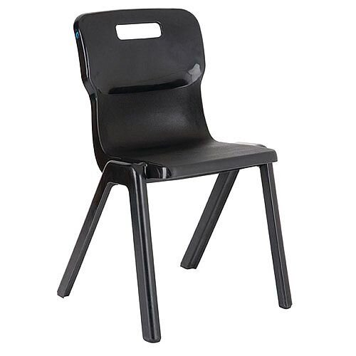 Titan One Piece School Chair Size 3 350mm Charcoal Pack of 30