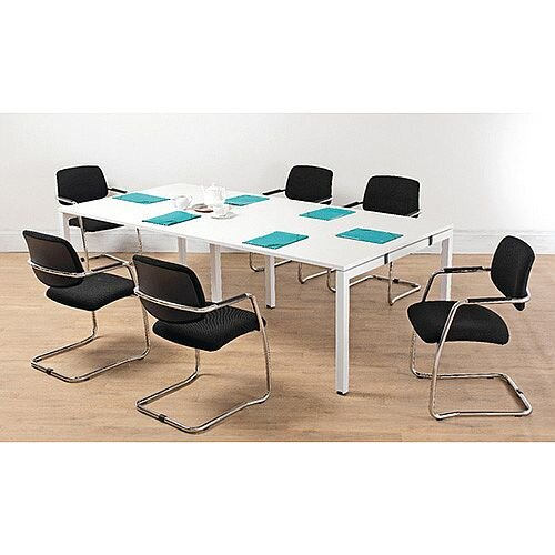 Arista White 2.4M Bench Boardroom Table KF838861